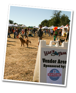 Wag 'n Trail vendor area